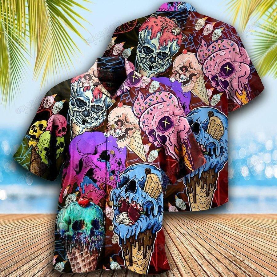 Skull And Ice Cream Hawaiian Shirt