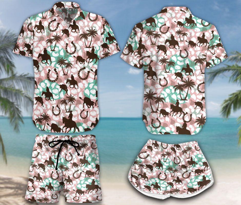 Cutting Horse Hawaiian Shirt and Short