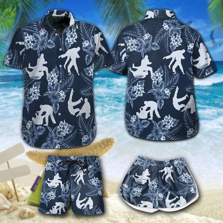 Jiu Jitsu Floral Hawaiian Shirt Summer