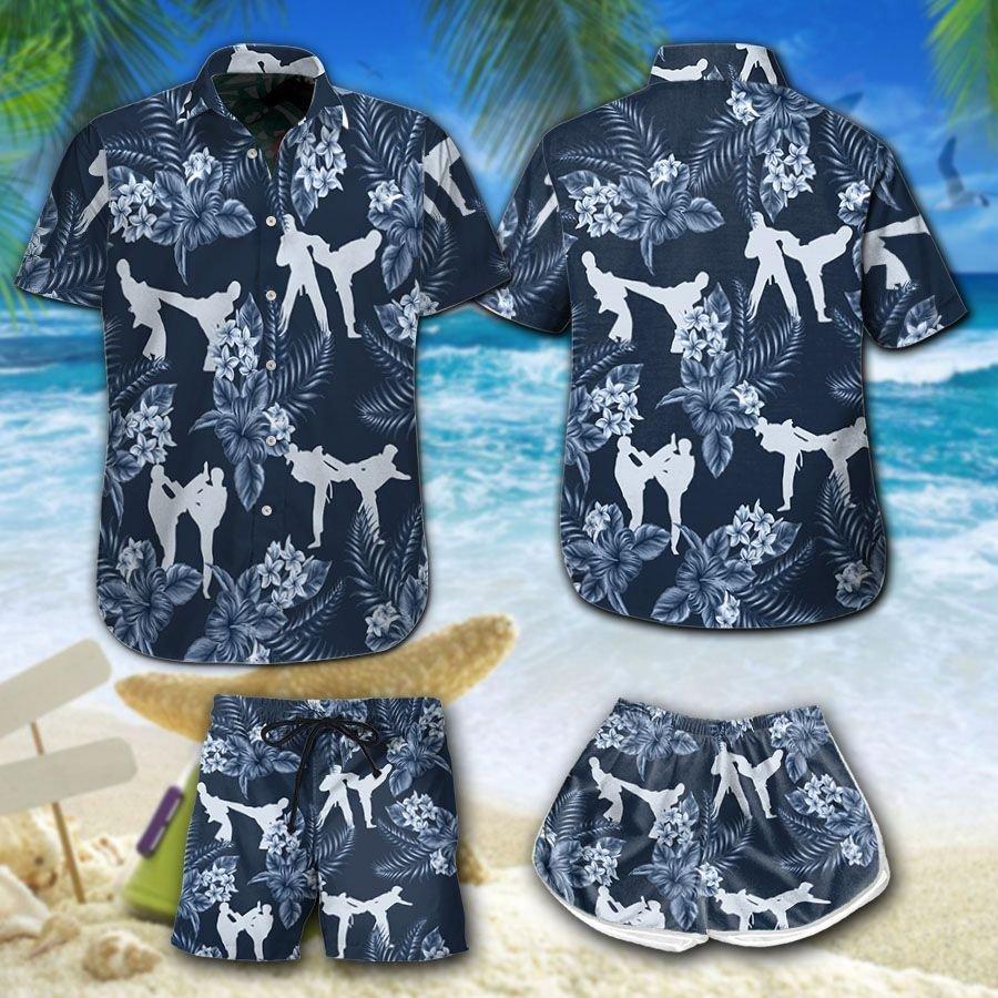 Taekwondo Floral Hawaiian Shirt