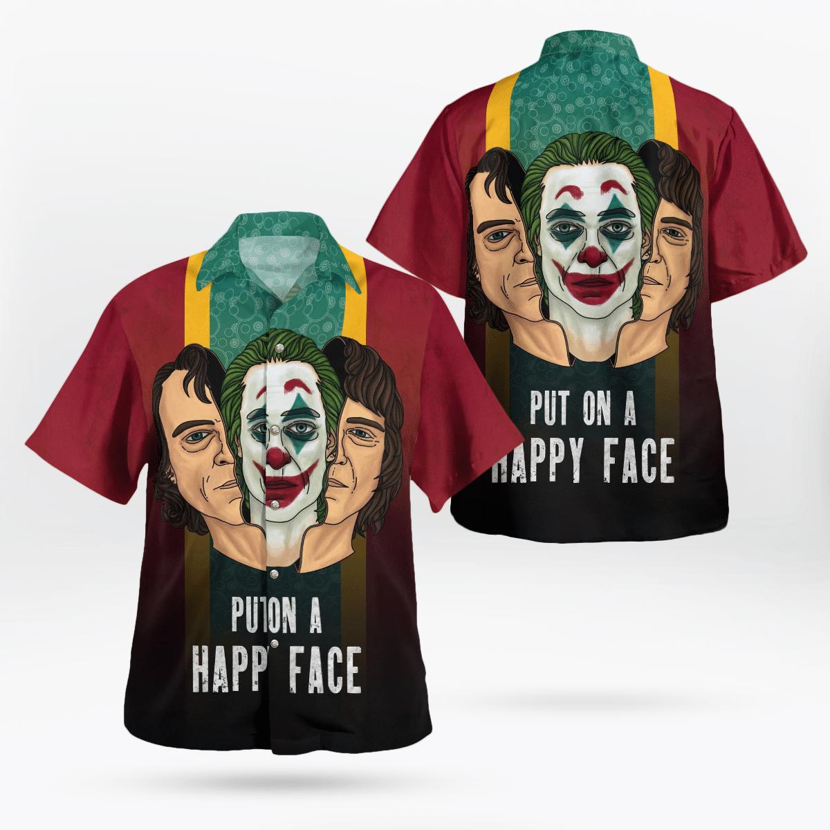 Joker Put on a Happy Face Batman Hawaiian Shirt