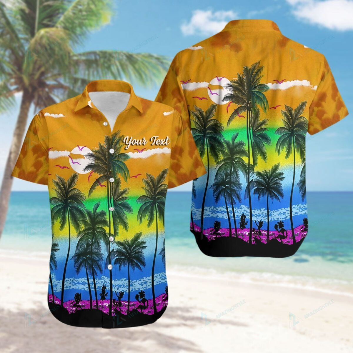 Custom LGBT Beach Hawaiian Shirt