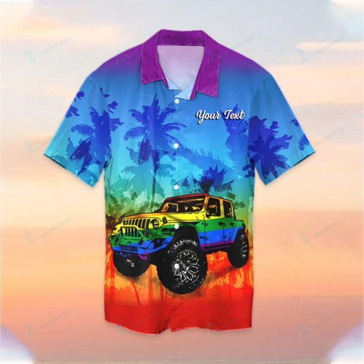 Custom LGBT Jeep Hawaiian Shirt