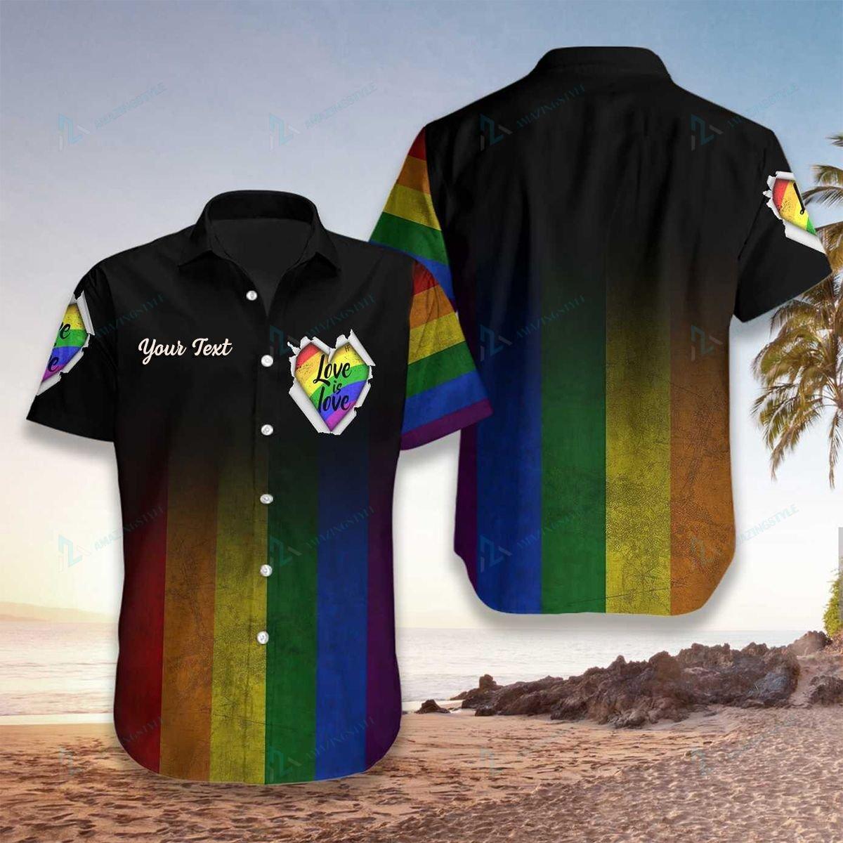Custom LGBT Love is Love Hawaiian Shirt
