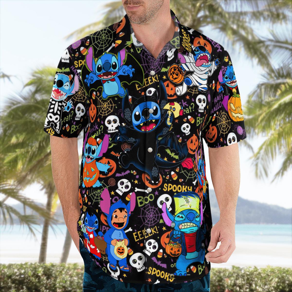 Halloween Trick Or Treat Stitch Hawaiian Shirt