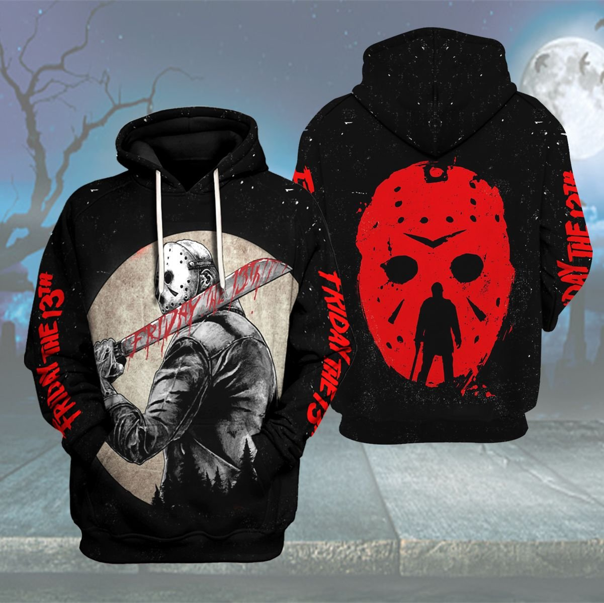 Jason With Knife Hoodie 3D