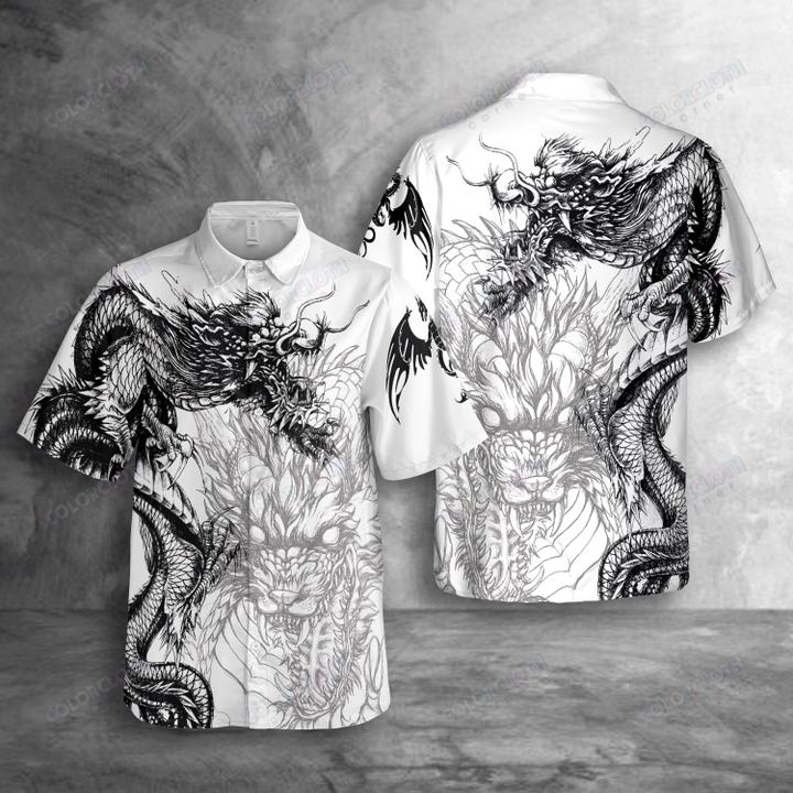 Dragon Tattoo Hawaiian Shirt For Dragon Lovers