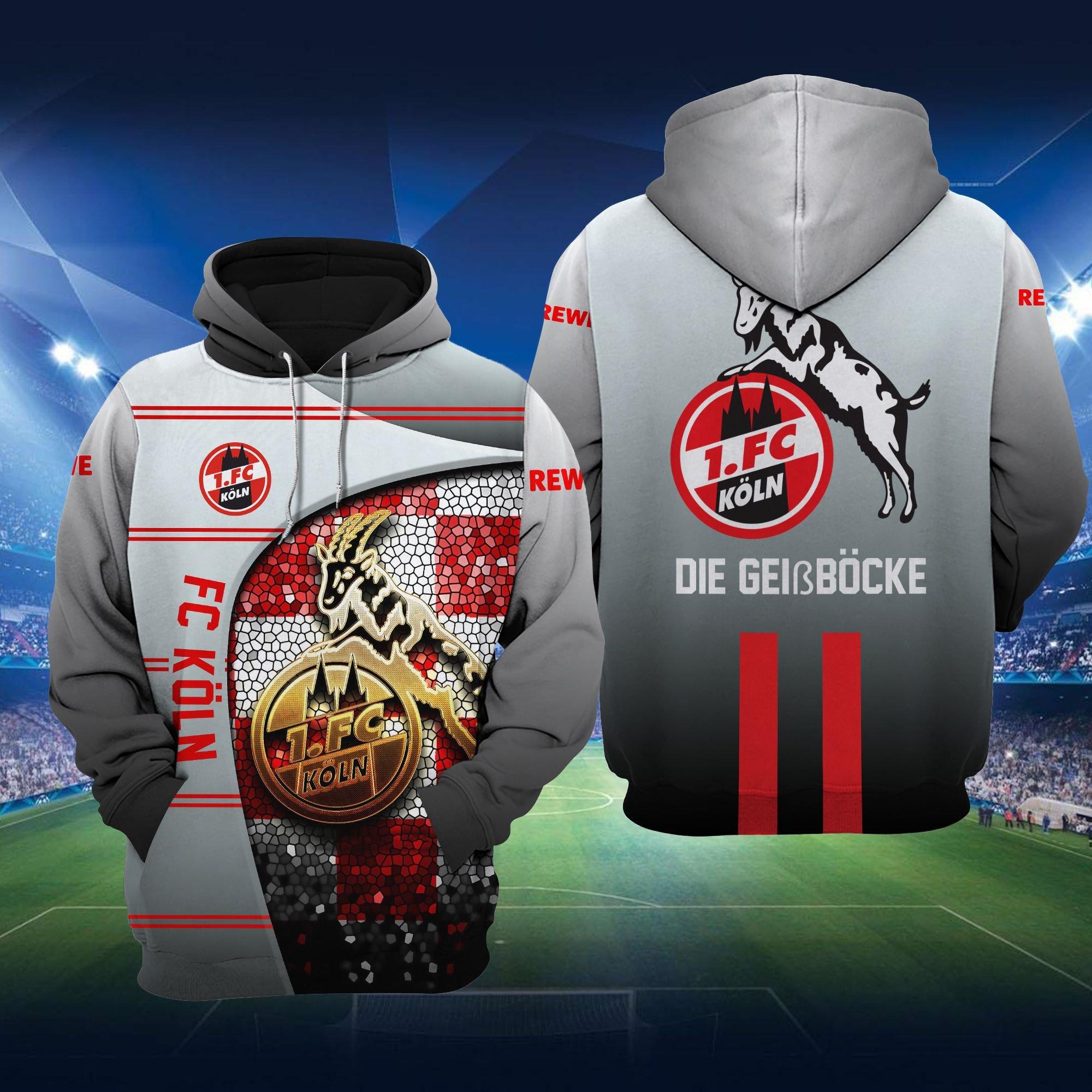 FC Koln Die GeiBbocke Grey Hoodie 3D