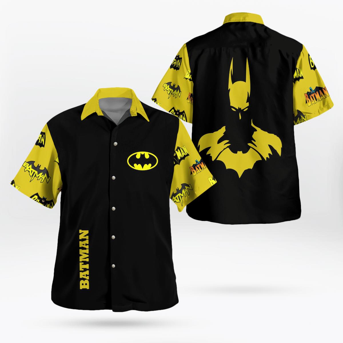 Batman Logo Yellow Hawaiian Shirt