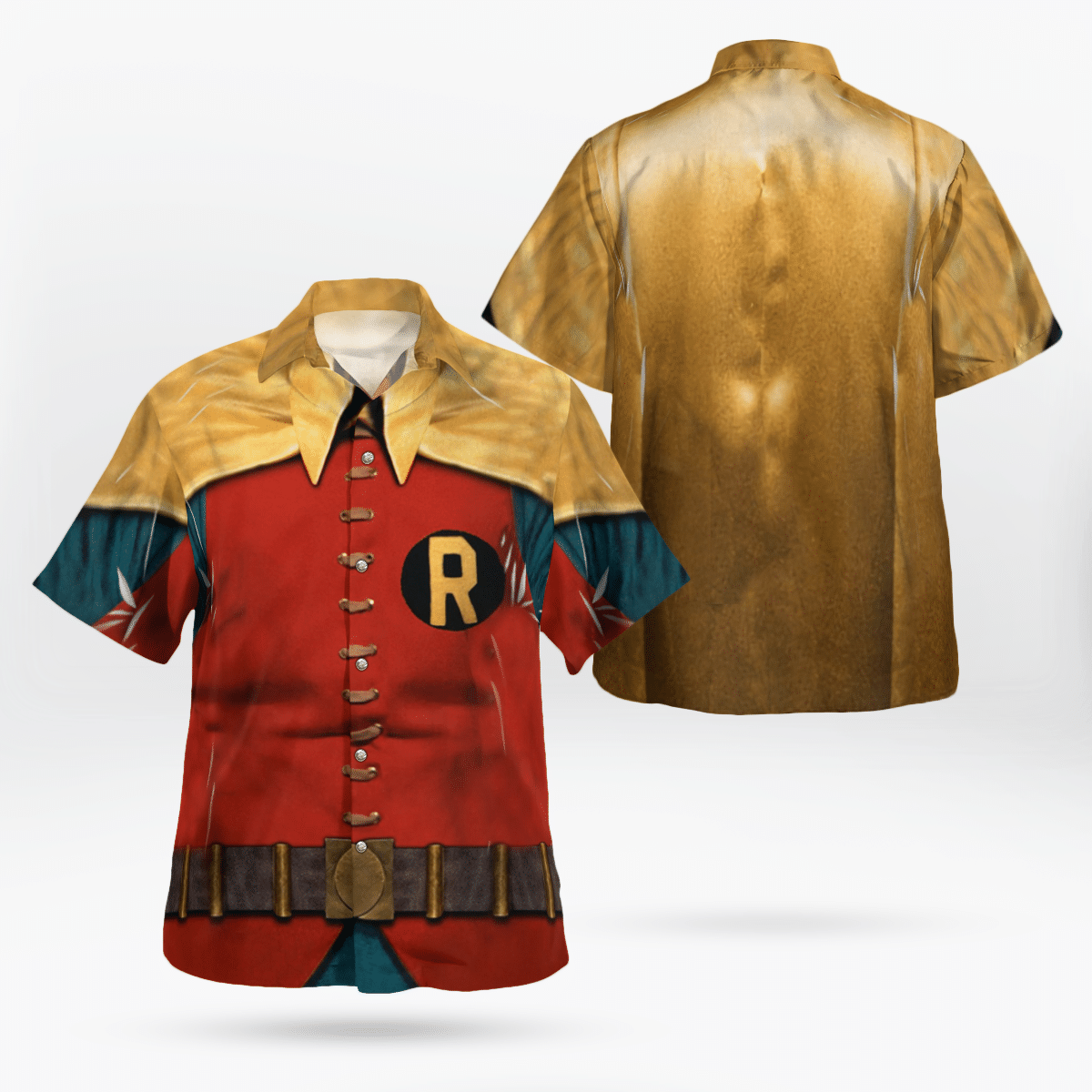 Robin Uniform Hawaiian Shirt Batman