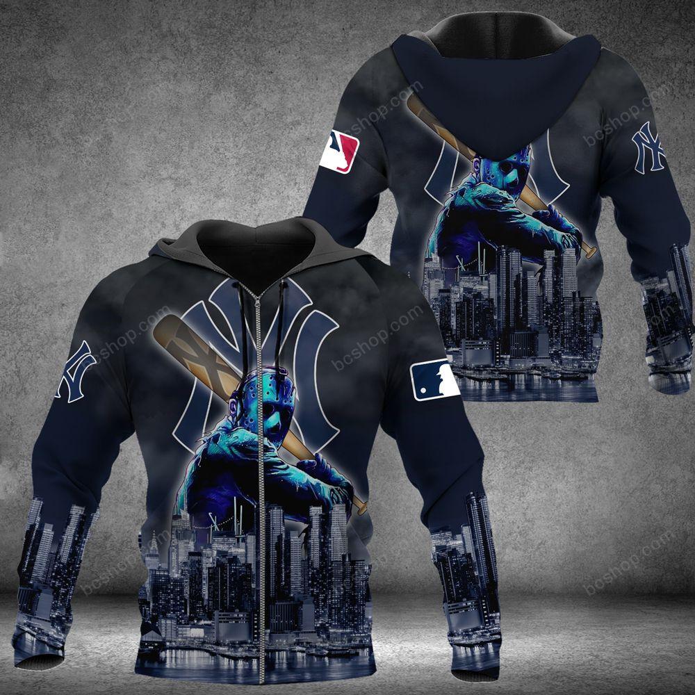 New York Yankees Jason Voorhees 3D baseball Hoodie and sweatshirt