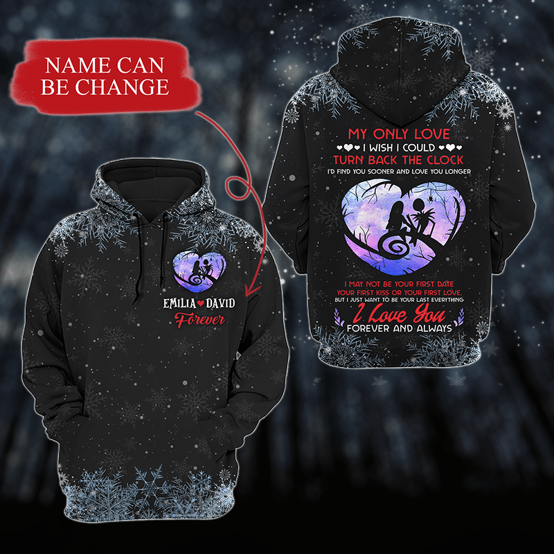I Love You Forever And Always Hear Shadow Custom Black 3D Hoodie