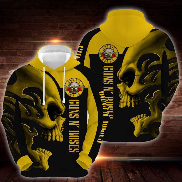 Guns N Roses Skull Hoodie 3D