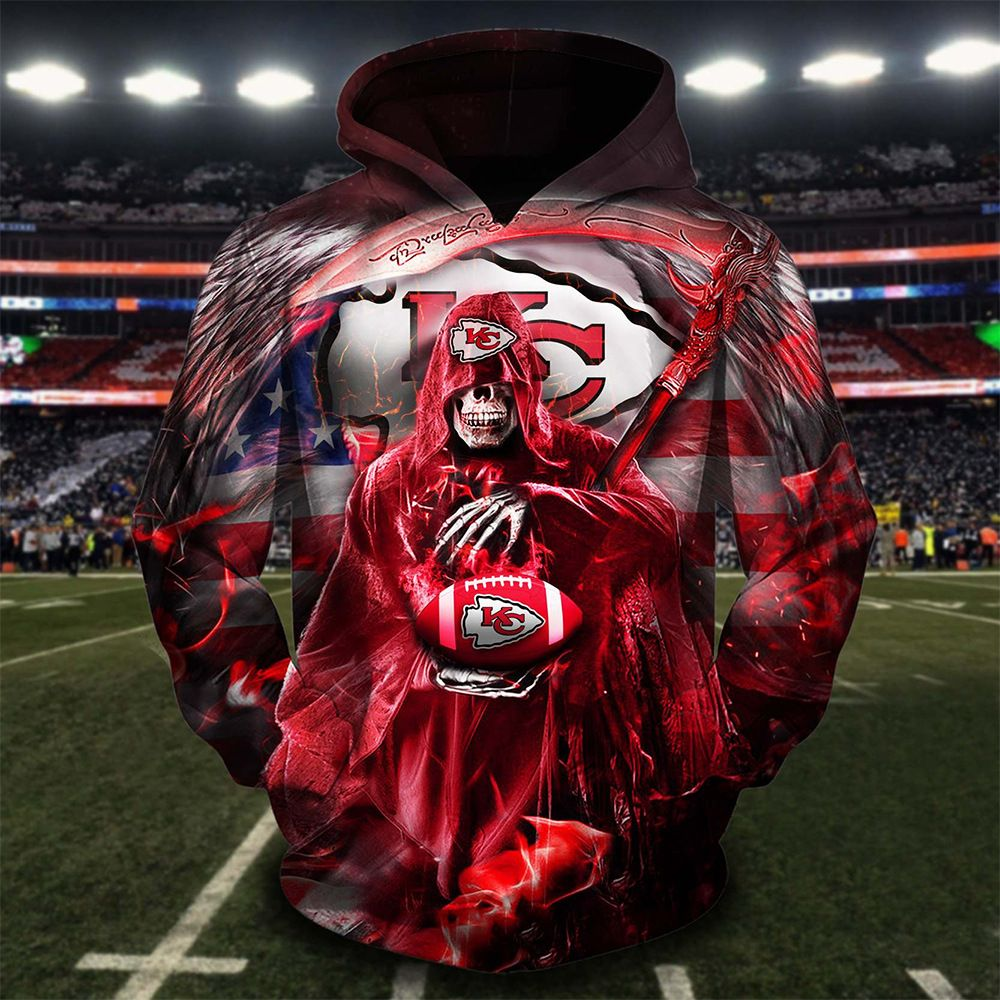 NFL Kansas City Chiefs God of death Hoodie 3d