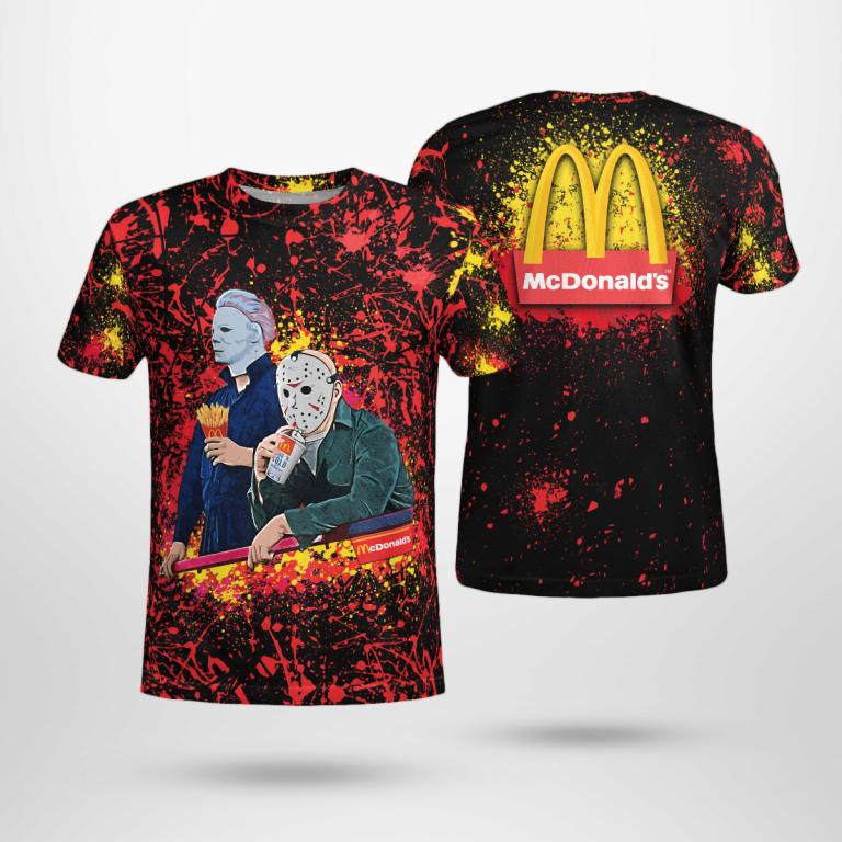 Halloween McDonald Bleached Jason Voorhees Michael Myers Shirt