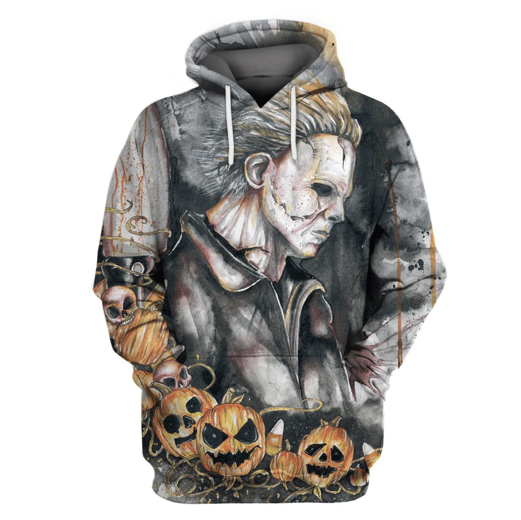 Michael Myers pumpkin 3D Full Printing Hoodie