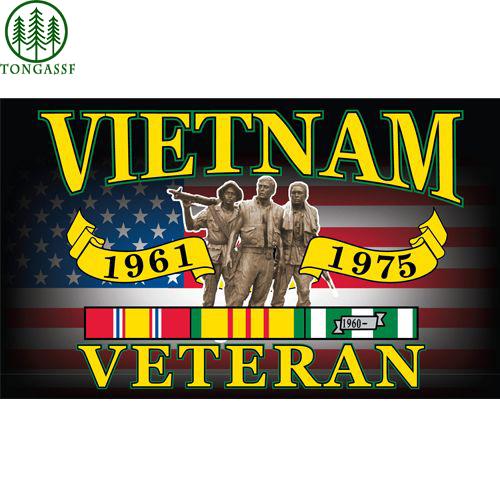 1975 vietnam veteran memorial flag