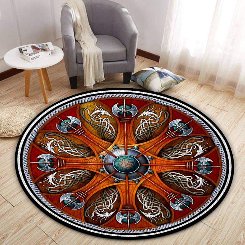 Viking Shield and axe Round Rug