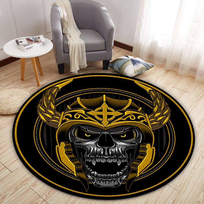 Skull Viking Round Rug