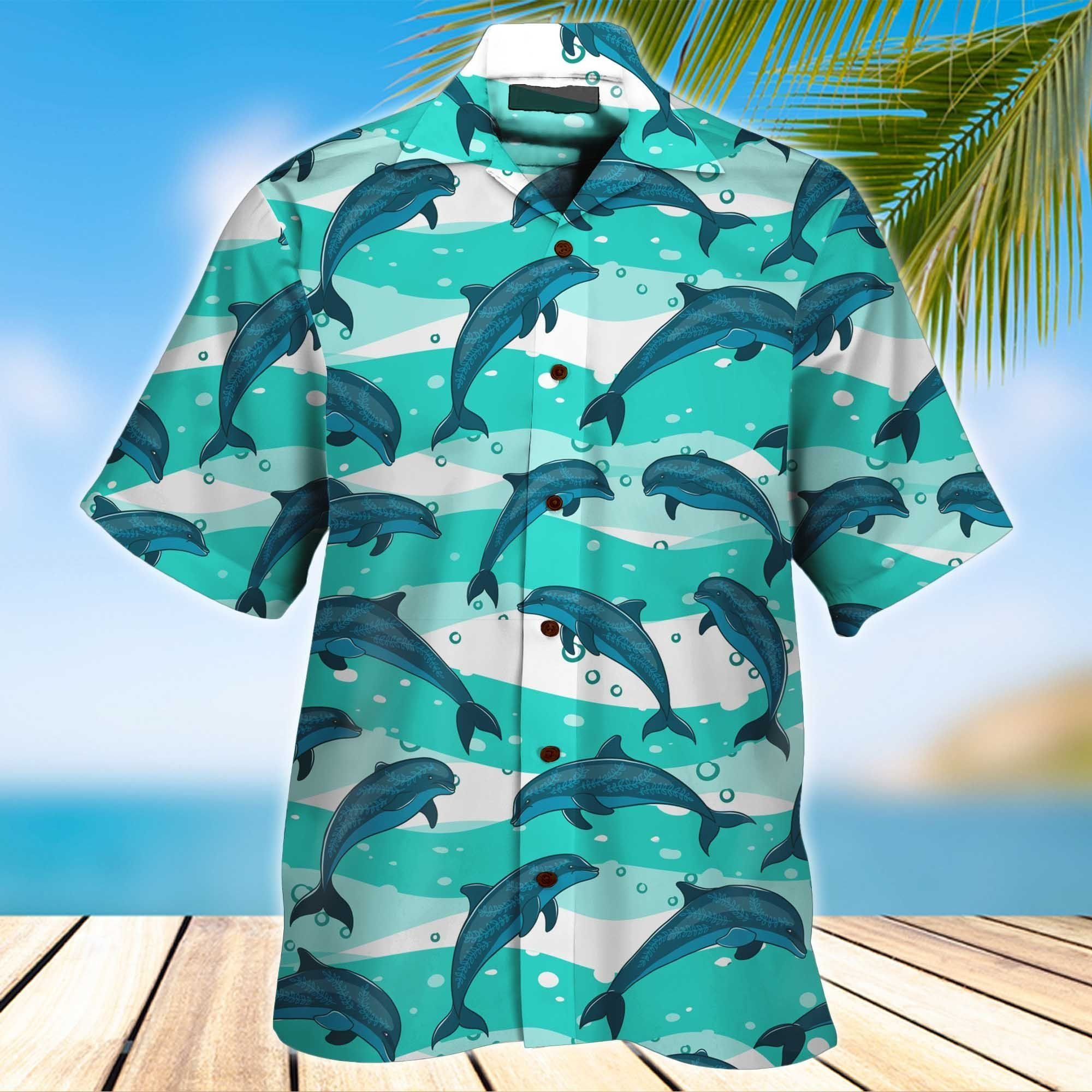 Dolphin Cute 3D Hawaiian Shirt And Short