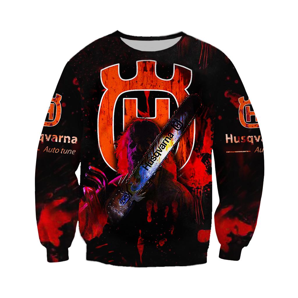 Husqvarna Chainsaw Horror Halloween 3D sweatshirt