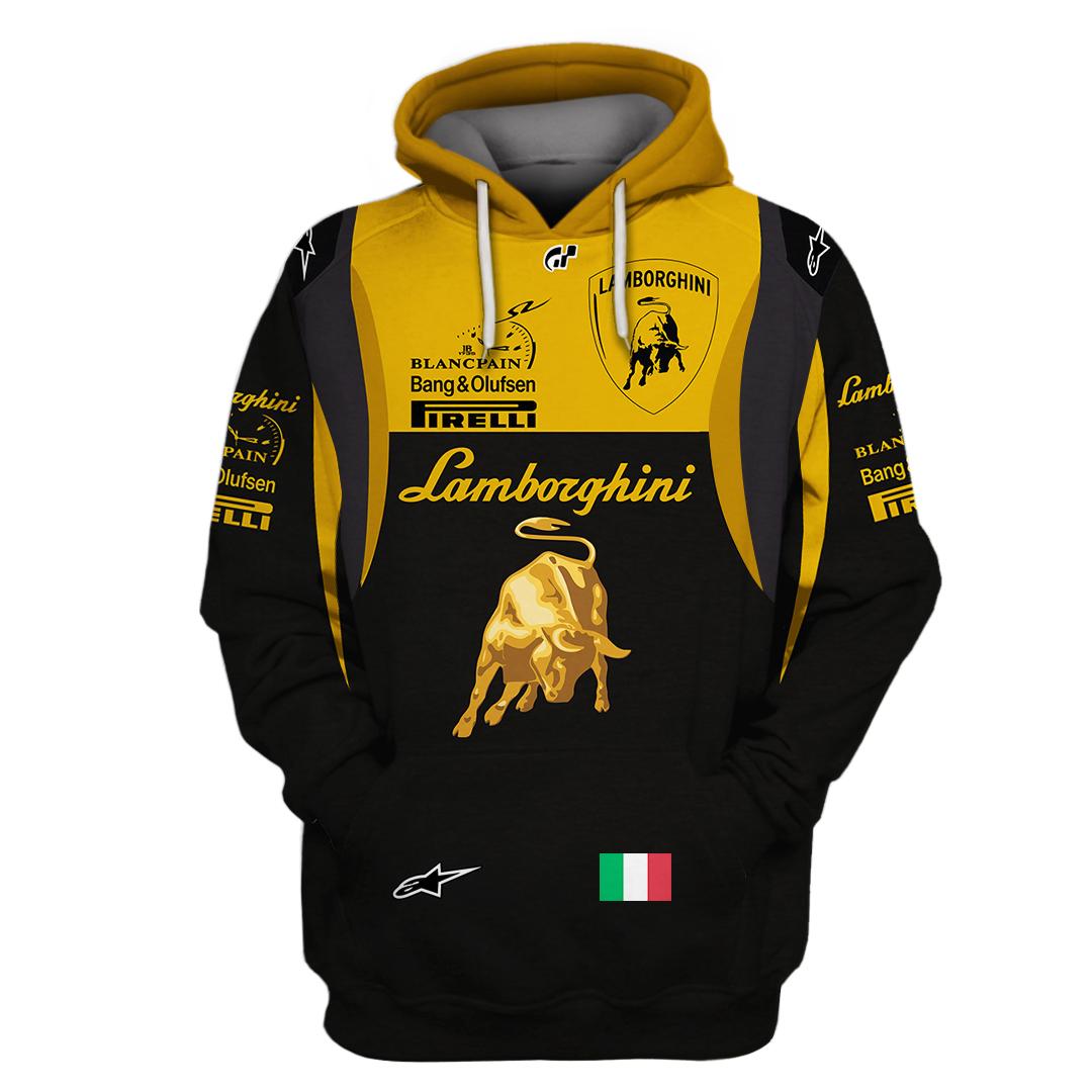 Lamborghini Italia F1 racing 3D hoodie and sweatshirt