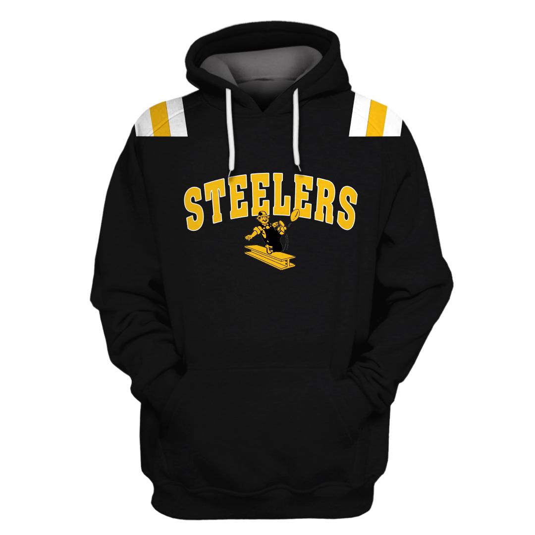 NFL Pittsburgh Steelers Branded Full Printed hoodie T-shirt