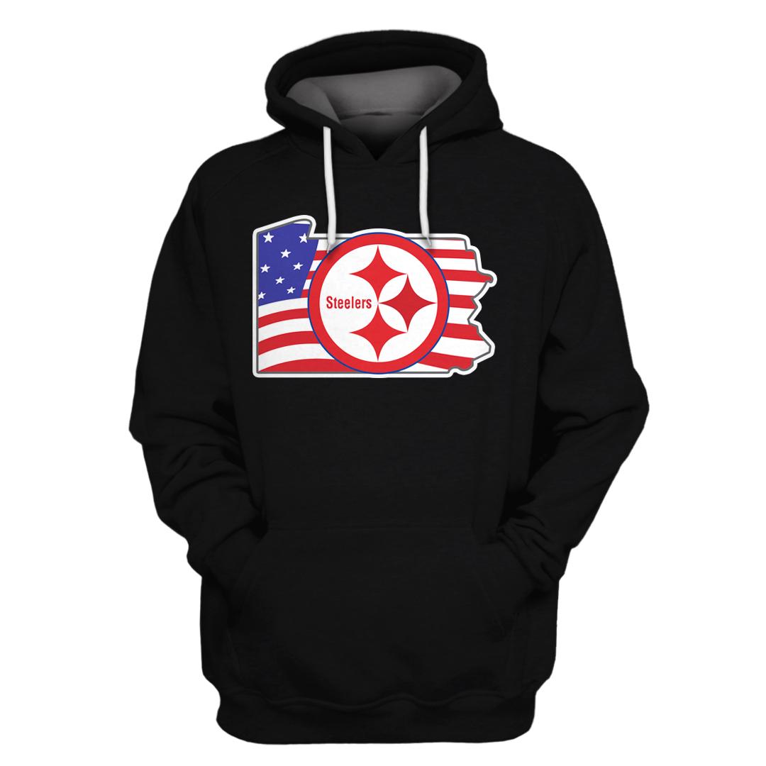 NFL Pittsburgh Steelers Full Printed hoodie sweatshirt