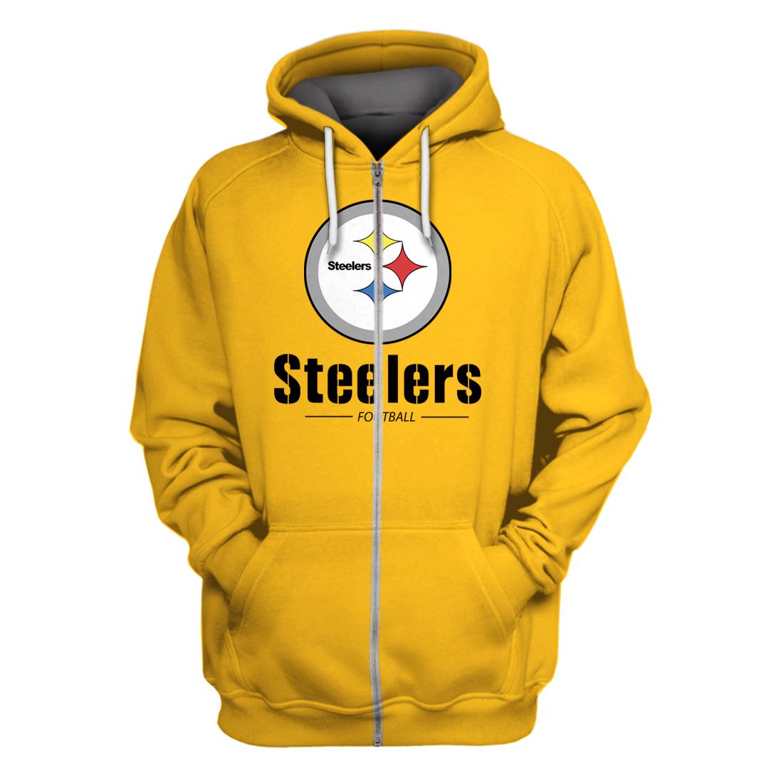 NFL Pittsburgh Steelers Football Yellow 3D Full Printing hoodie