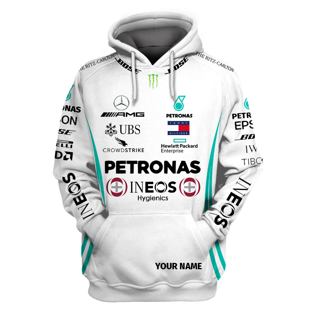 Personalized Petronas Ineos hygienic F1 racing hoodie and T shirt