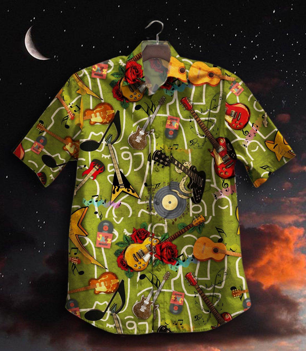 Hot Guitar Music Hawaiian Shirt Summer Shirt