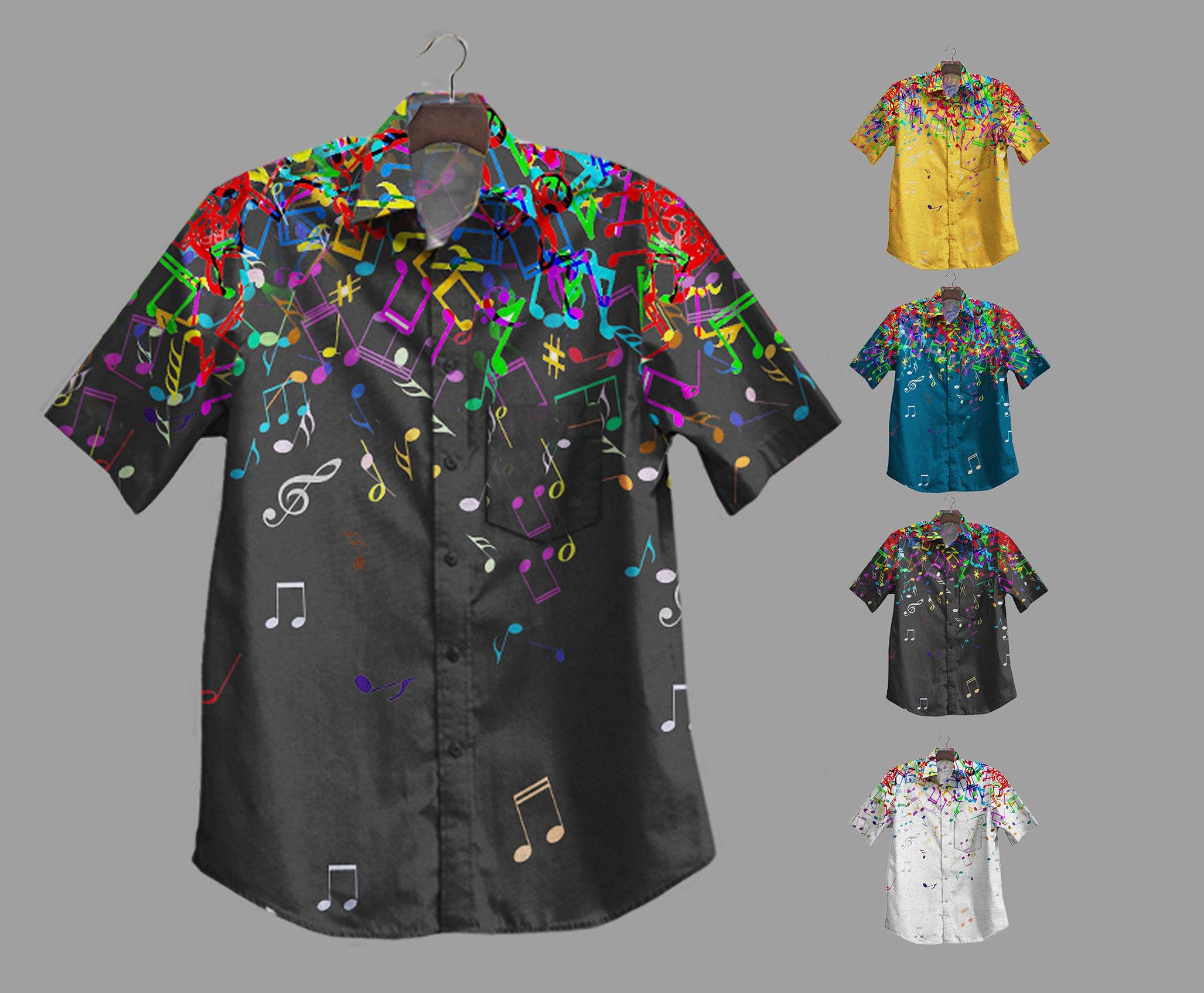 Hot Music Notes Hawaiian Shirt Summer Shirt