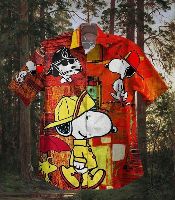 Hot Snoopy Firefighter Cool Hawaiian Shirt Summer Shirt