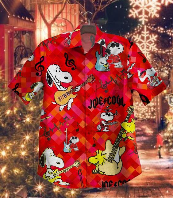 Hot Snoopy Guitar Vintage Hawaiian Shirt Summer Shirt