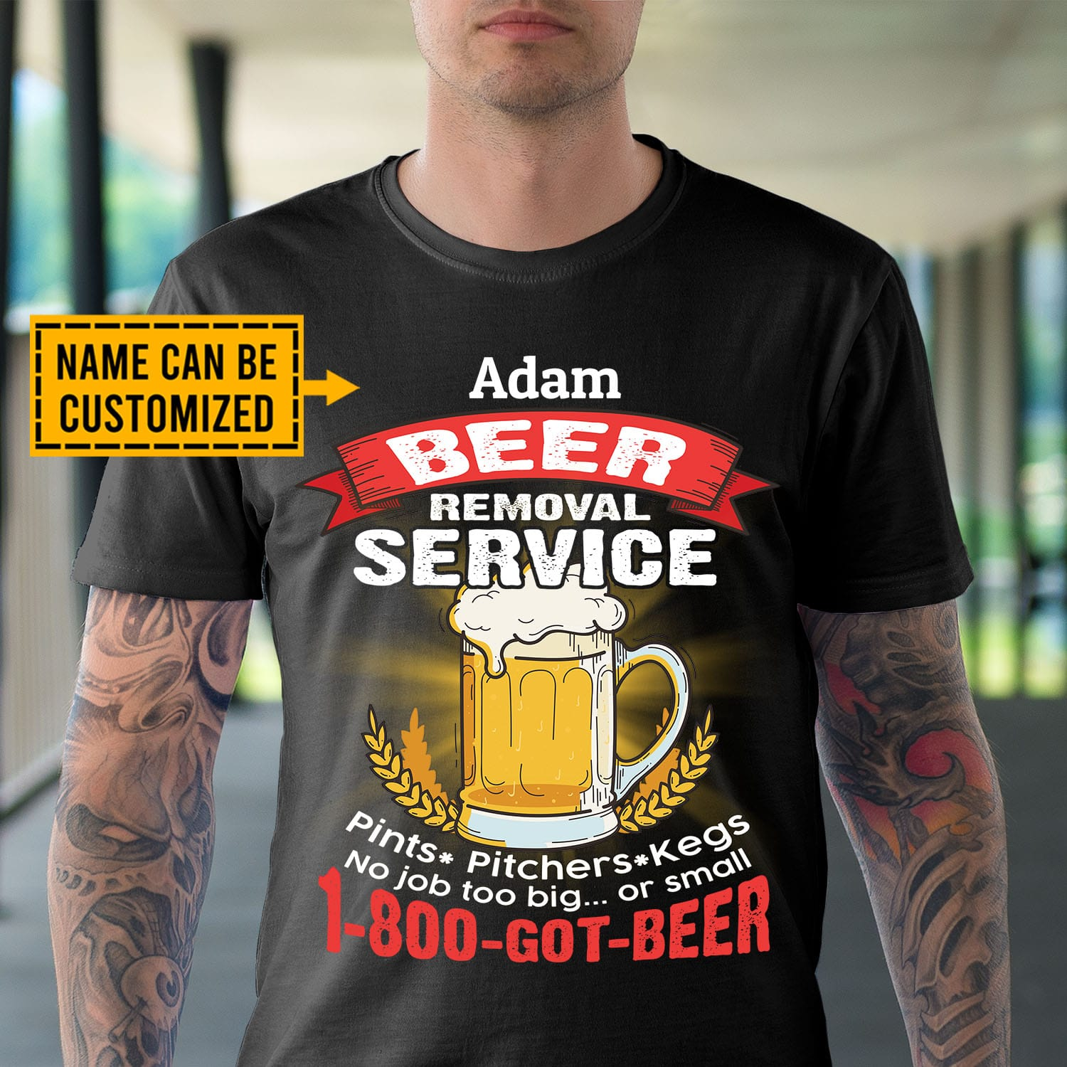 Personalized Beer Removal Service Funny Beer Shirts for Men T-shirt