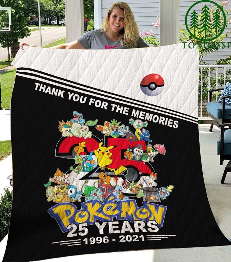 25 years anniversary Pokemon Quilt Blanket