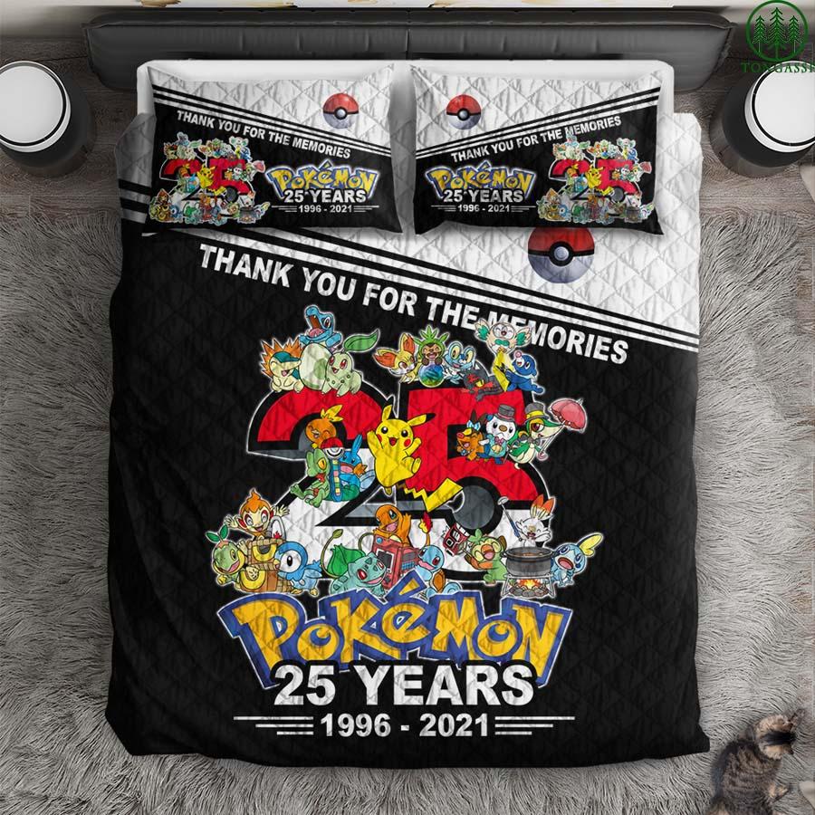 25 years anniversary Pokemon comforter quilt set