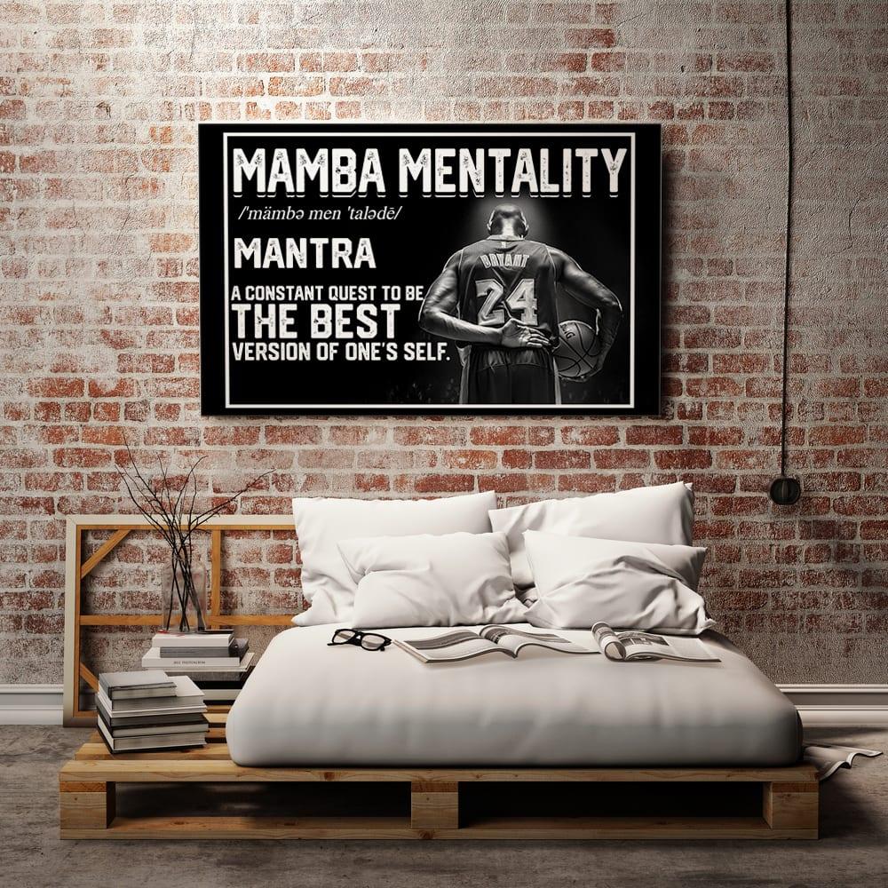 Mamba Mentality Motivational LAL Kobe Bryant 24 Canvas