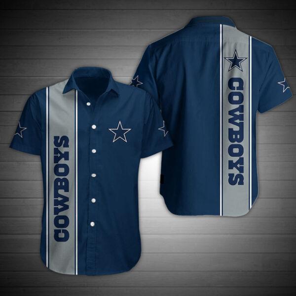 Dallas Cowboys Hawaiian Shirt Star Blue