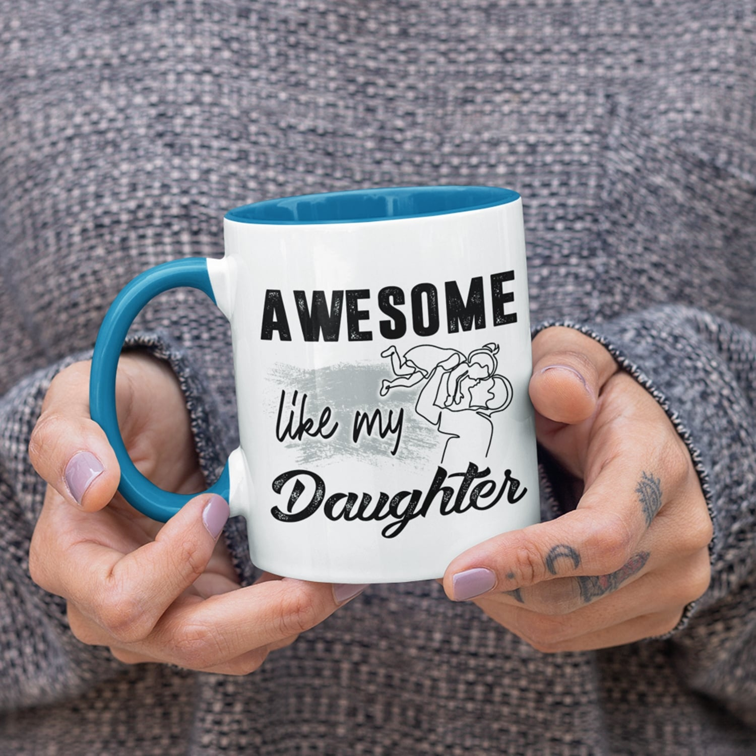 Awesome Like My Daughters Happy Father Day Gifts Accent Mug
