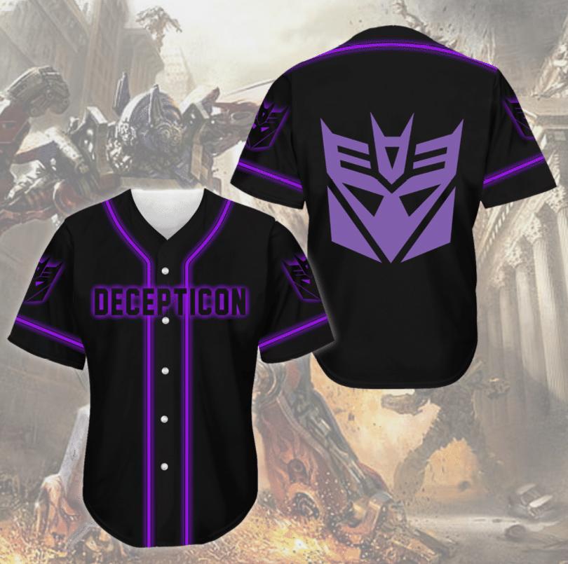 Decepticon Transformers baseball Jersey shirt