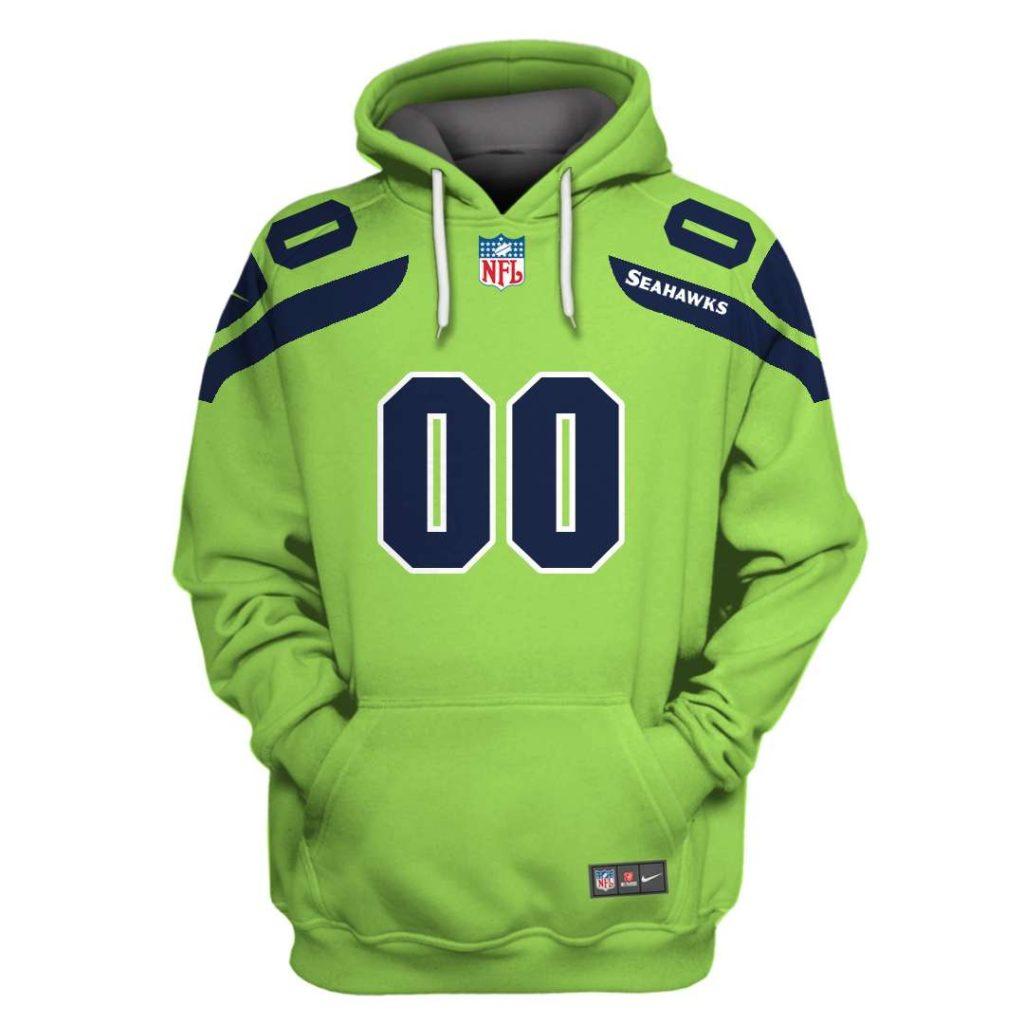 Personalized Seattle Seahawks 3D Full Printed Hoodie sweatshirt