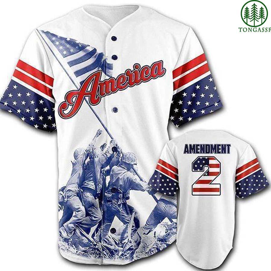 USA 2nd Amendment baseball jersey shirt