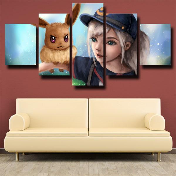 Hot Pokemon 5 Panel canvas for wall decoration