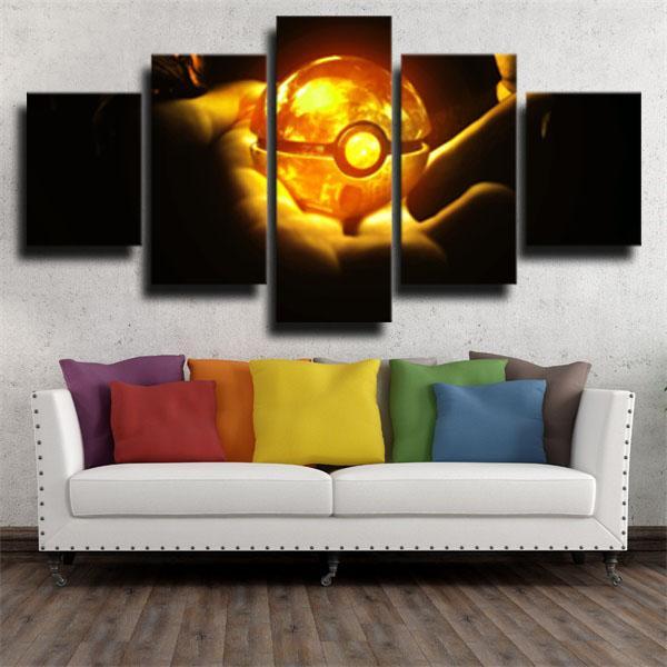 Fireball Pokemon 5 panel canvas
