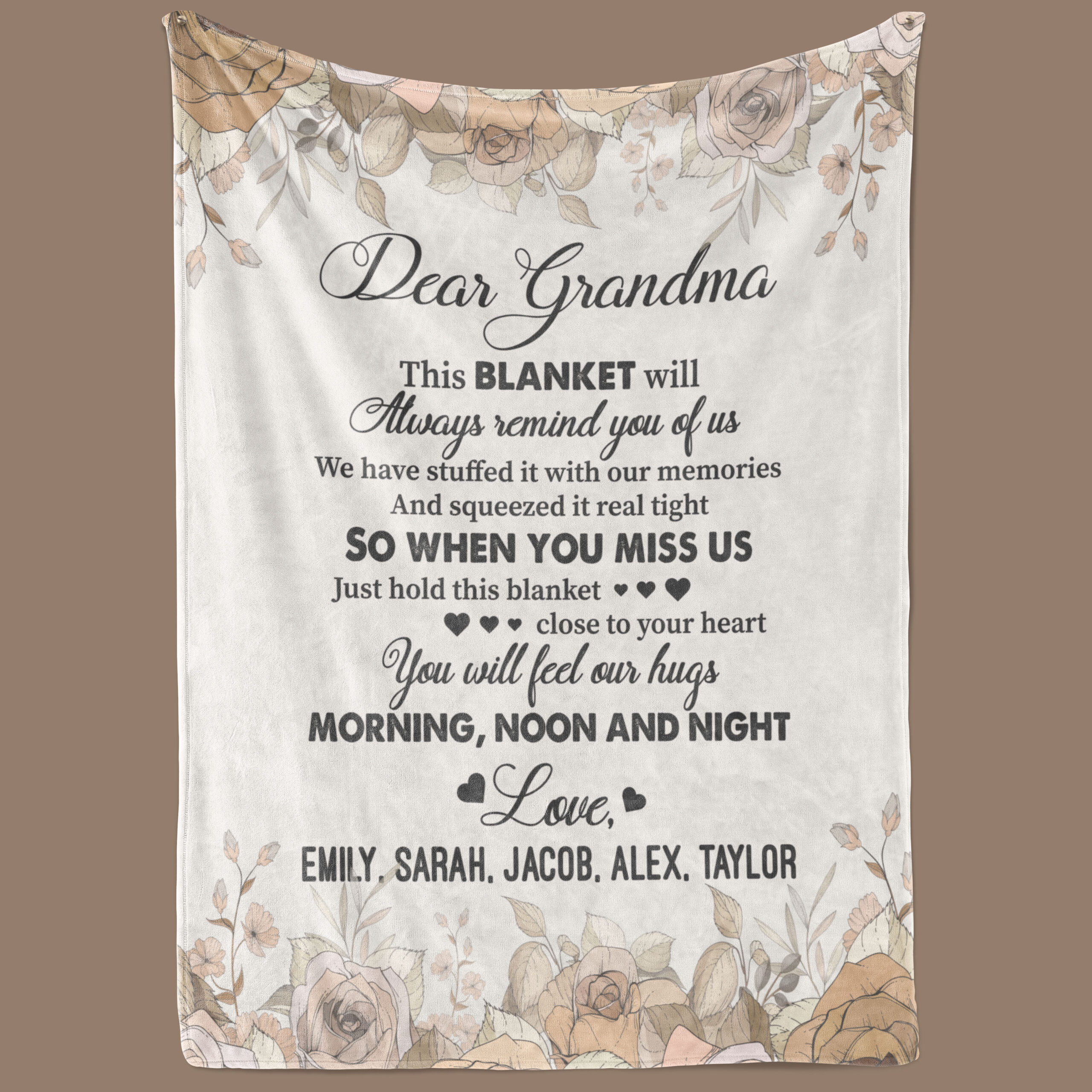 We Have Stuffed It With Our Memories Grandma personalized Fleece Blanket