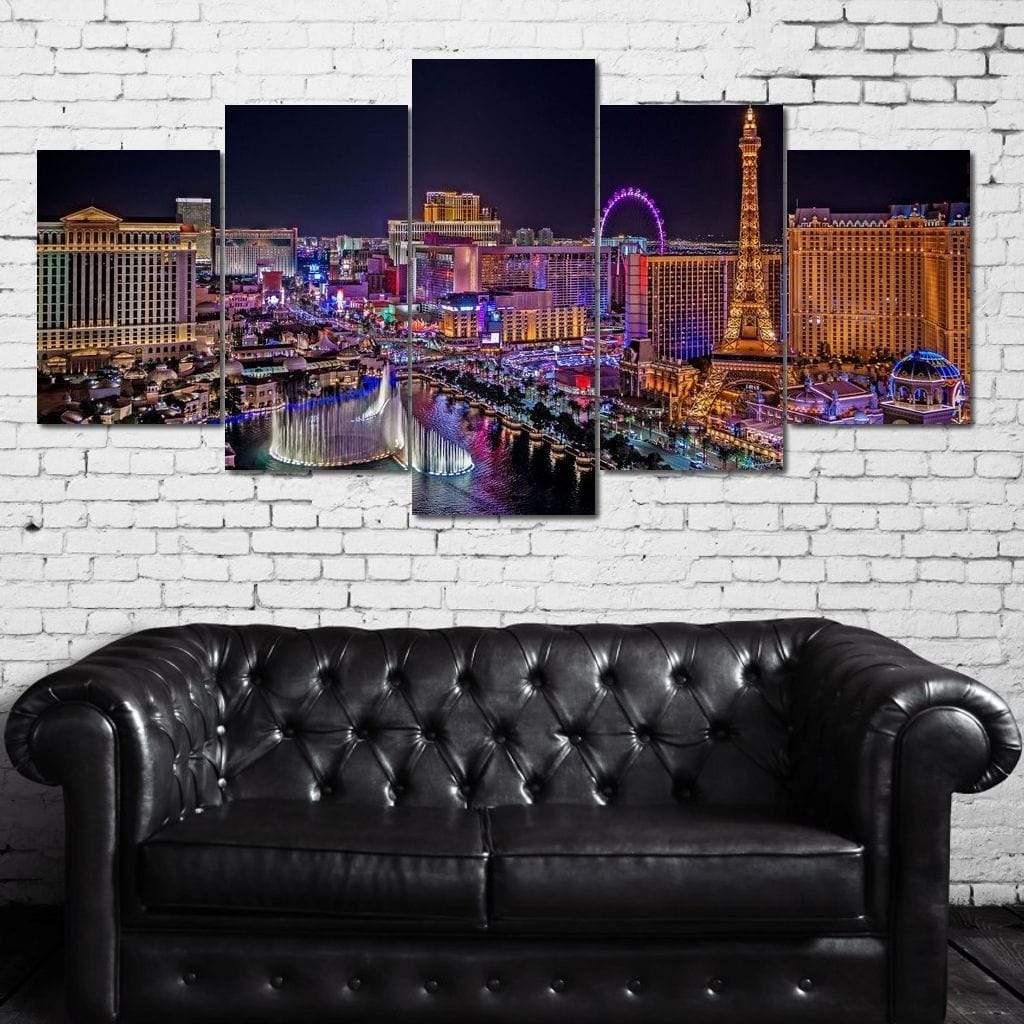Vegas Strip 5 panel wall art canvas