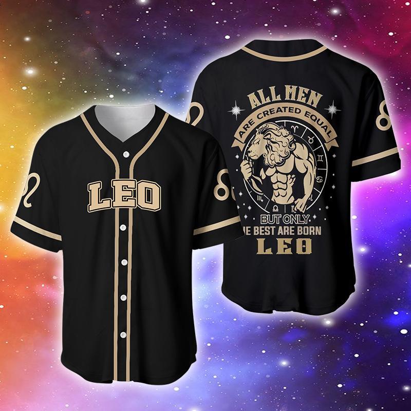 Zodiac The Best Are Born As Leo Baseball Jersey Shirt