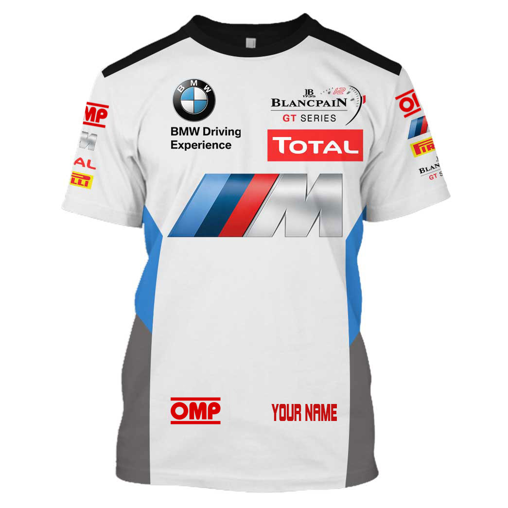 Personalized OMP legendary BMW M racing hoodie and T shirt