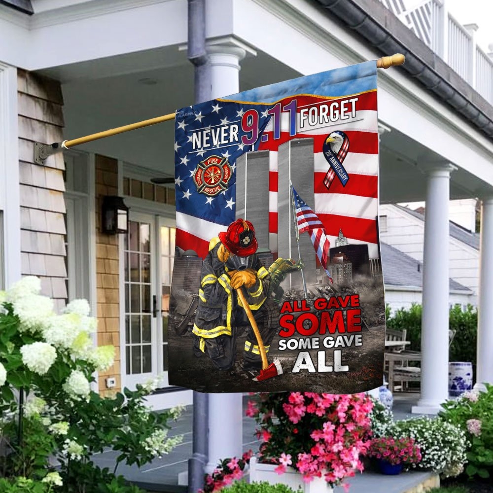 Never Forget September 11th All Gave Some Some Gave All Flag